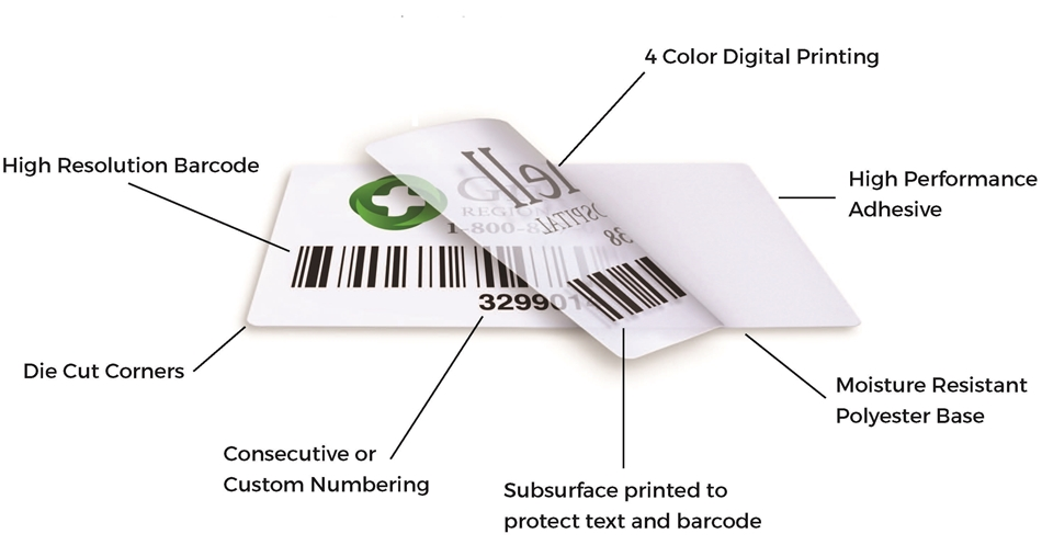 PolyTrac Gold Custom Barcode Asset Tags