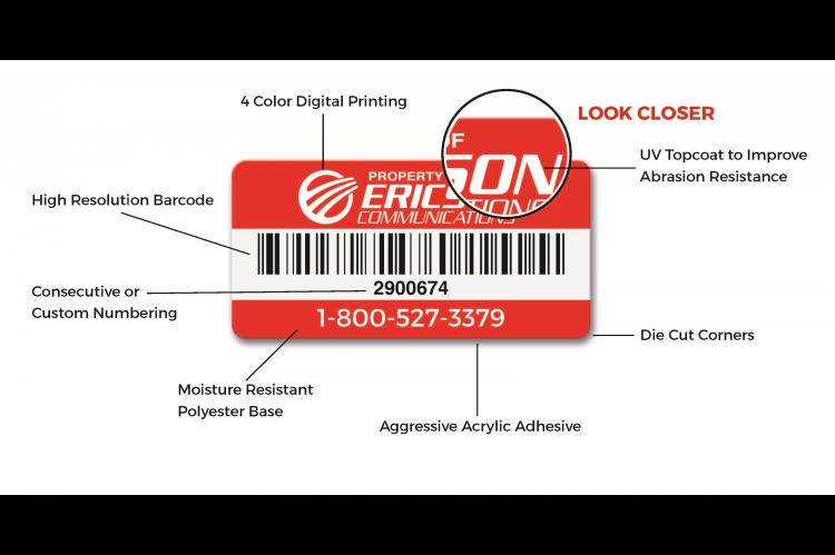 PolyTrac Bronze Asset Labels