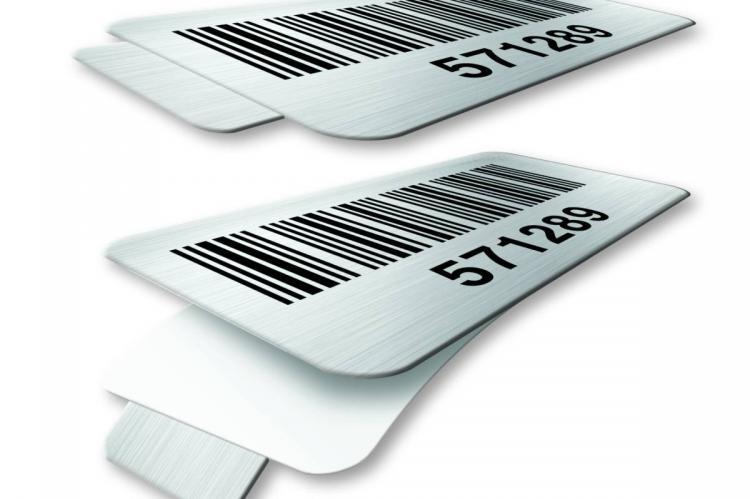 Tabbed Metal Barcode Labels